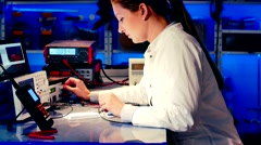 Test of electronic device With Microprocessor Controller - stock footage