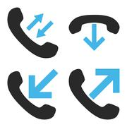 Phone Call Flat Vector Icons Stock Illustration