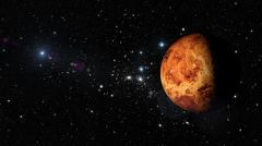 Planet Venus in outer space. - stock illustration