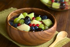 Melon and Berry Fruit Salad - stock photo
