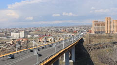The view from the height on the large bridge Stock Footage