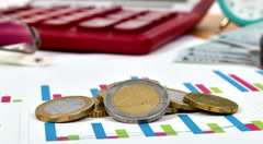 Euro Coins Stock Footage