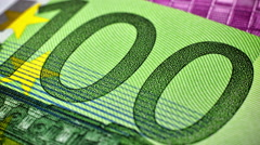Euro Banknotes As A Background, Close Up - stock footage