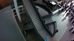Stairways in a exhibition hall Stock Footage