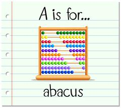 Flashcard letter A is for abacus Stock Illustration