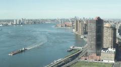 East River and FDR Drive in NYC - stock footage