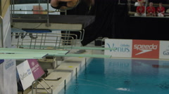 Gatineau, Canada - April 2016 - competitive divers practice for the Canada Cup Stock Footage