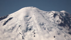 Mount Rainier: Tight Lock Off Scenic Shot Stock Footage