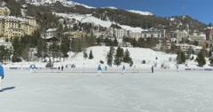 St Moritz cricket on ice Stock Footage