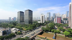 Time lapse of traffic in Jakarta Stock Footage