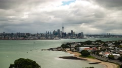 Auckland, New Zealand.  Timelapse Stock Footage