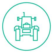 Stock Illustration of Tractor line icon