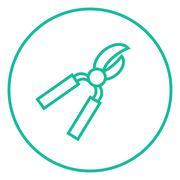 Pruner line icon Stock Illustration