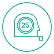 Stock Illustration of Tape measure line icon