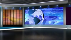 Stock Video Footage of News TV Studio Set 144-Virtual Green Screen Background Loop
