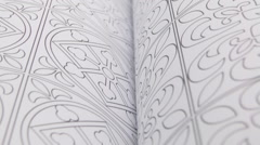 Pages with Geometric Illustration Stock Footage