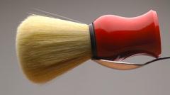 Shaving Brush Gourmet Stock Footage
