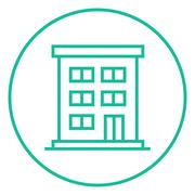 Stock Illustration of Residential buildings line icon
