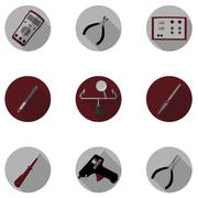 Tools for repair of electronics Stock Illustration