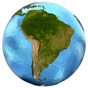 South American continent on Earth - stock illustration