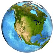 North American continent on Earth - stock illustration