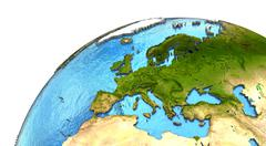 European continent on Earth - stock illustration