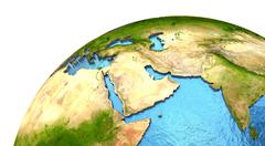 Middle East region on Earth - stock illustration