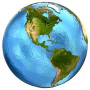 American continents on Earth - stock illustration