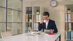 Good Morning in the Office Stock Footage