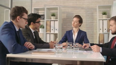 Signing Important Contract - stock footage