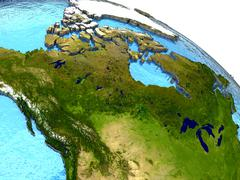 Canada on Earth Stock Illustration