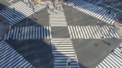 Ginza crossing Stock Footage