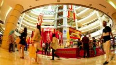 Shopping mall in Kuala Lumpur - stock footage