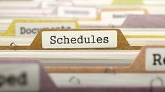 Schedules - Folder Name in Directory Stock Illustration