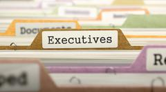 Executives Concept. Folders in Catalog - stock illustration