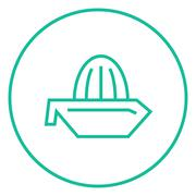 Lemon squeezer line icon Stock Illustration