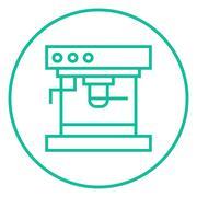 Coffee maker line icon - stock illustration