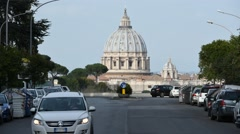 Dome of St. Peter in Rome Stock Footage