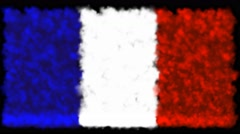 French flag from the smoke Stock Footage
