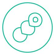 Stock Illustration of Spiral bread line icon