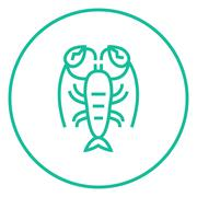 Lobster line icon Piirros