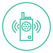 Stock Illustration of Radio set line icon