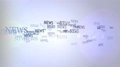 Lot News. News hurry Stock Footage