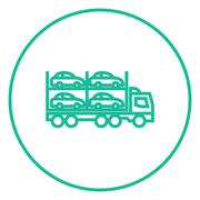 Stock Illustration of Car carrier line icon