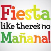 Bright typographic Fiesta card in vector format. - stock illustration