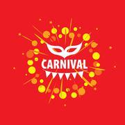 Carnival vector logo - stock illustration