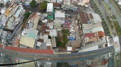 Static view of the poor neighbourhoods of Ho Chi Minh City Stock Footage