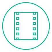 Negative line icon - stock illustration