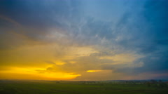 The flow of cloud against the sunset. Time lapse Stock Footage