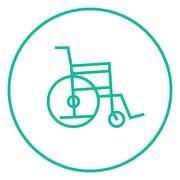 Wheelchair line icon - stock illustration
